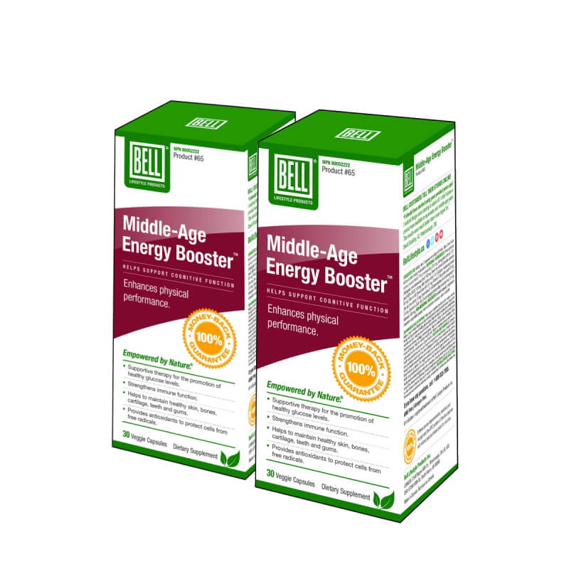 BELL Middle-Age Energy Booster 30 Veggie Caps BOGO
