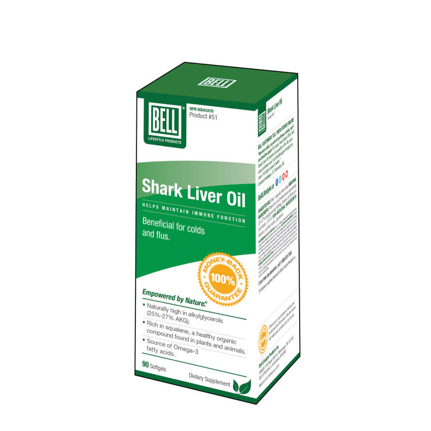 Bell Lifestyle Shark Liver Oil 90 Softgels