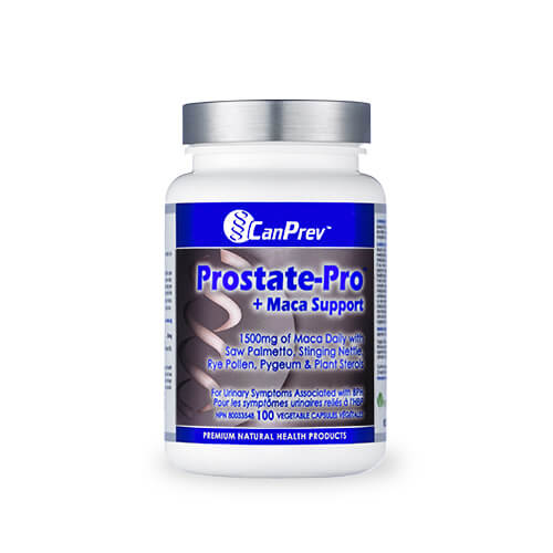 CanPrev Prostate-Pro + Maca Support 100 Vegetable Capsules