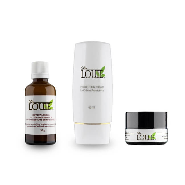 Dr. Louie Holiday Face Care 3-Piece Anti-Aging Skincare Gift Set