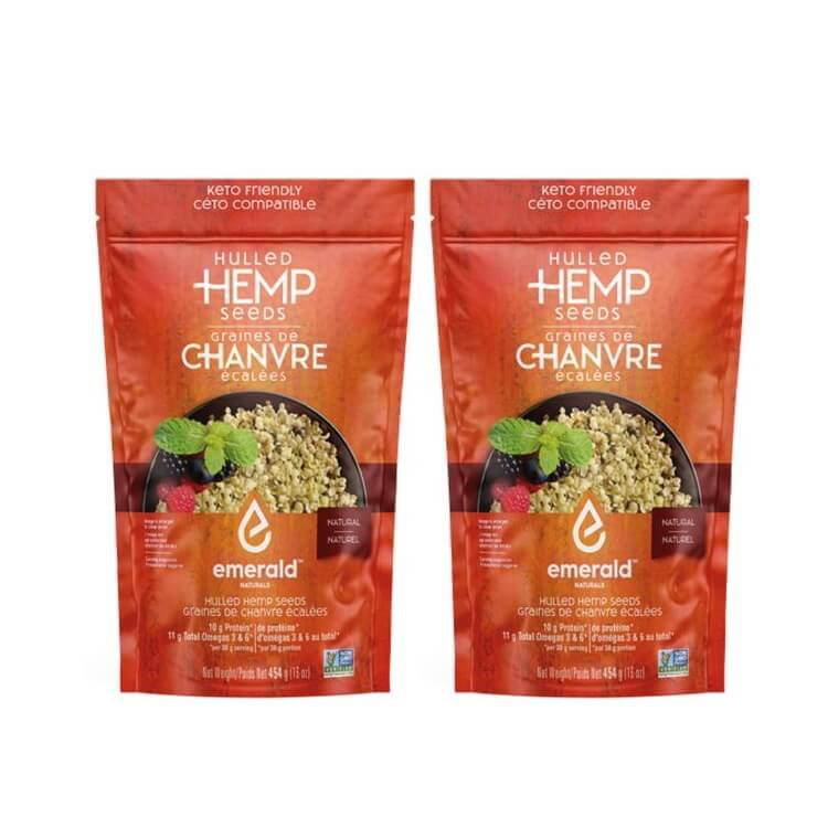 Emerald Naturals Hulled Hemp Seeds 227g BOGO
