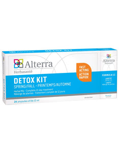 Alterra Herbasante Detox Kit Spring/Fall 24 Ampoules of 10mL