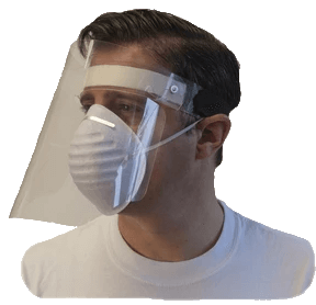 Face Shield - Hinged Clear Co-poly