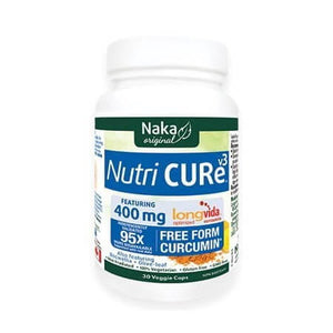 Naka Original Nutri CURe V3 95x more bioavailable 400mg 30 Veggie Caps