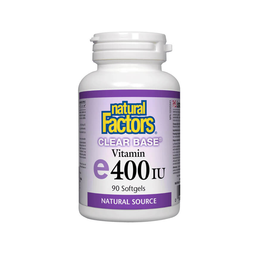 Natural Factors Clear Base Vitamin E 400IU Clear Base 90 Softgels