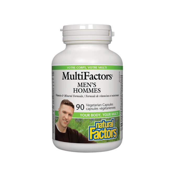 Natural Factors MultiFactors Men Hommes 90 Vegetarian Capsules