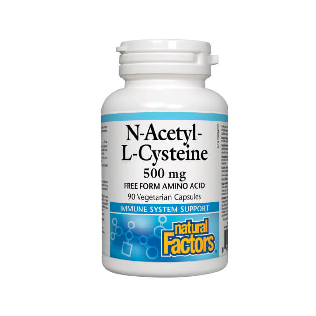 Natural Factors N-Acetyl-L-Cysteine 500mg 90 Vegetarian Capsules