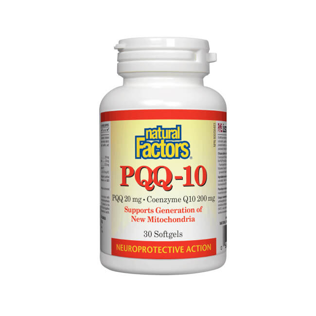 Natural Factors PQQ-10 200mg 30 Softgels