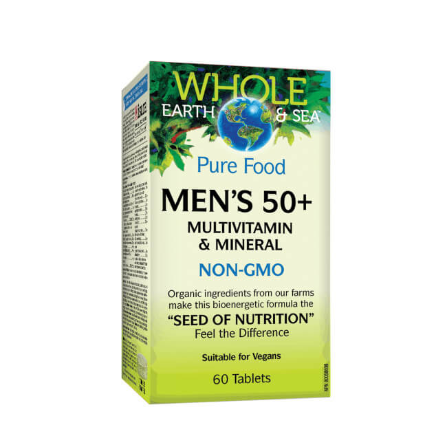 Natural Factors Pure Food Men's 50+ Multivitamin & Mineral 60 Tablets