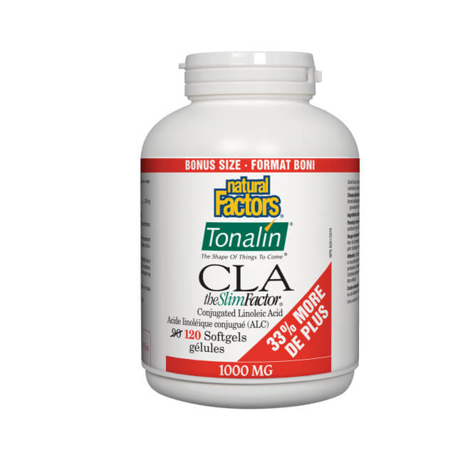 Natural Factors Tonalin CLA The Slim Factor 1000mg 120 Softgels