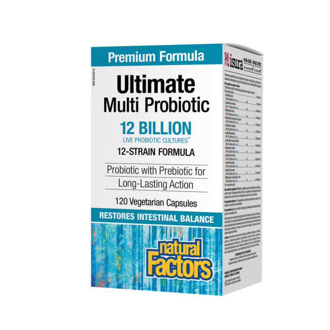 Natural Factors Ultimate Multi Probiotic 12 Billion 120 Vegetarian Capsules