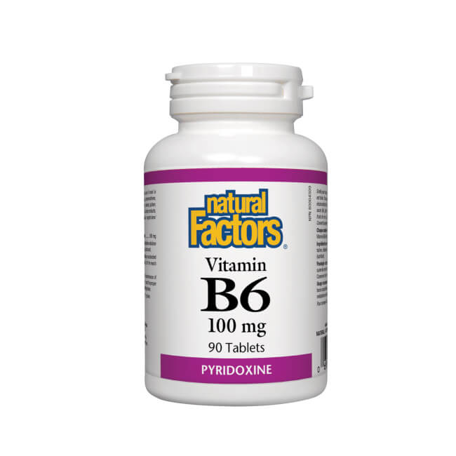 Natural Factors Vitamin B6 Pyridoxine 100mg 90 capsules