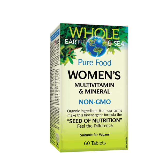 Natural Factors Whole Earth & Sea Pure Food Women's Multivitamin & Mineral 60 Tablets