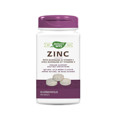 Nature's Way Zinc Echinacea Vitamin-C Wildberry 60 Lozenges