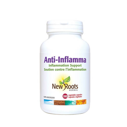 New Roots Anti Inflamma 600mg 180 Vegetable Capsules