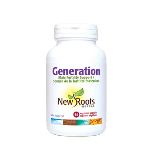 New Roots Generation 60 Vegetable Capsules - Male Fertility Support