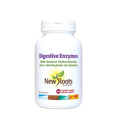 New Roots Herbal Digestive Enzymes 100 Vegetable Capsules