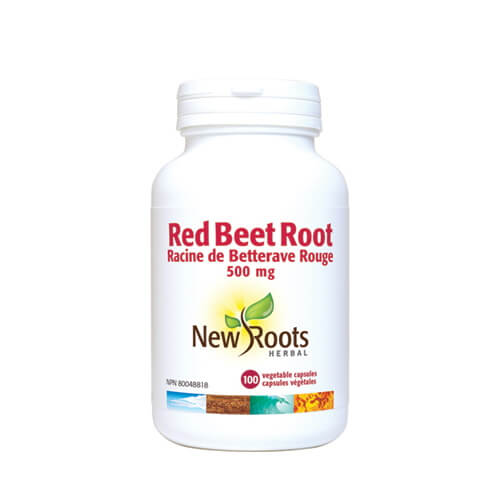 New Roots Red Beet Root 500mg 100 Vegetable Capsules