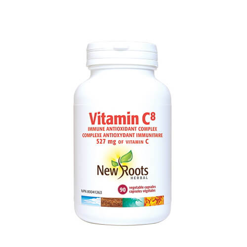 New Roots Vitamin C8 528mg 90 Vegetable Capsules