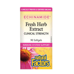 Natural Factors Fresh Herb Extract Clinical Strength 90 Softgels Clinically Proven & Certified Organic