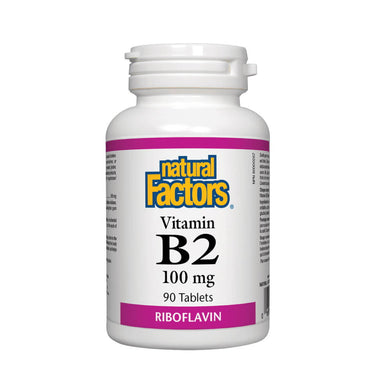 Natural Factors Vitamin B2 Riboflavin 100mg 90 Tablets