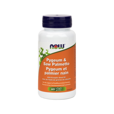 NOW Pygeum & Saw Palmetto with Pumkin Seed Oil 60 Softgels