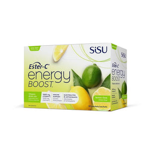 SISU Ester-C Energy Boost Lemon-Lime 1000mg 30 Packets