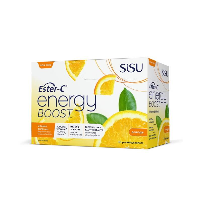 SISU Ester-C Energy Boost Orange 1000mg 30 packets