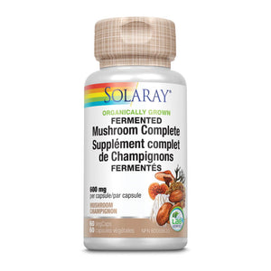 Solaray Organically Grown Fermented Mushroom Complete 600mg 60 VegCaps