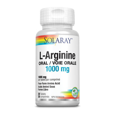 Solaray L-Arginine Oral 1000mg 30 Tablets