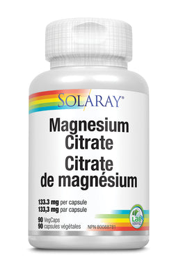 Solaray Magnesium Citrate 400mg 90 Veg Caps