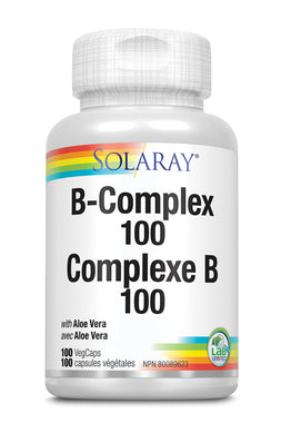Solaray Vitamin B Complex 100mg 100 Veg Caps