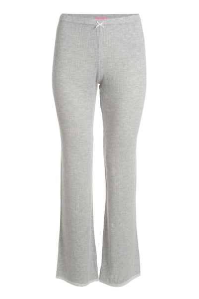 Polkadot RIB PANT Heather Grey w Lace Hems