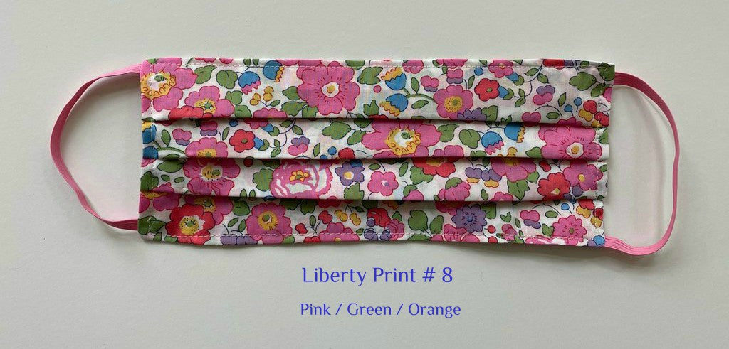 MASK Liberty Print # 8  Pink /Green /Orange