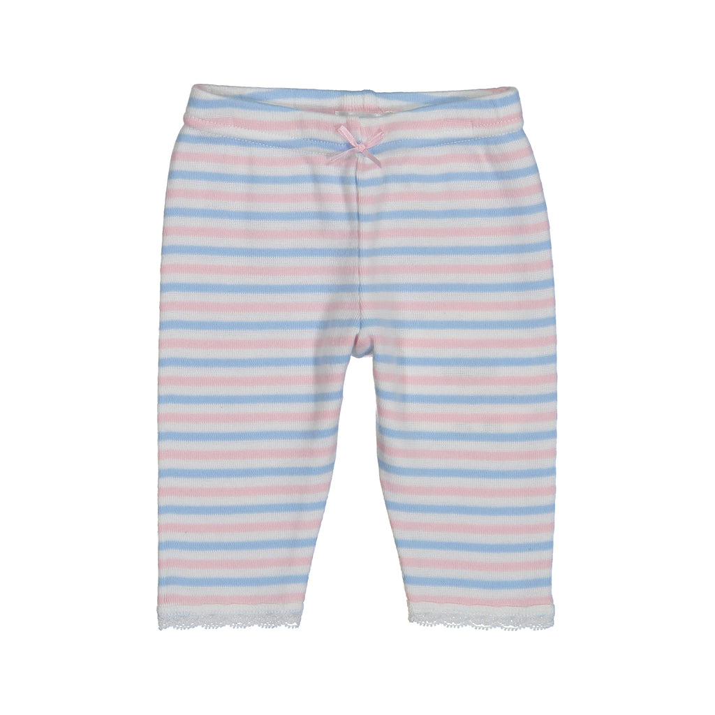 Polkadot BABY GIRLS PJ PANT Pink /Lt Blue /Cream Sailor Stripe w Lace