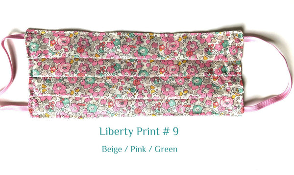 MASK Liberty Print # 9  Beige /Pink /Green