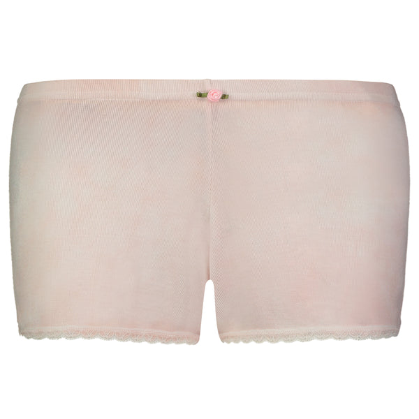 Polkadot SHORT PINKY PEACH TIE DYE w Lace -SOLD OUT