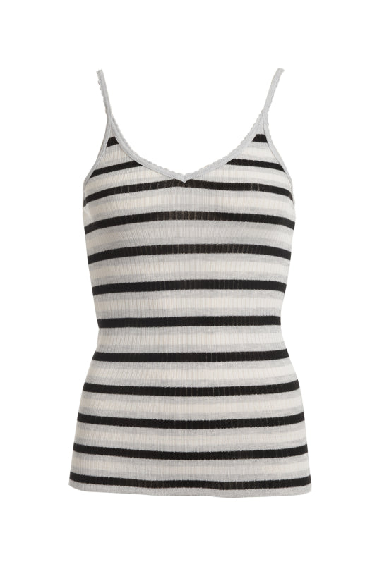 Polkadot CAMISOLE  Black Heather Lee Stripe
