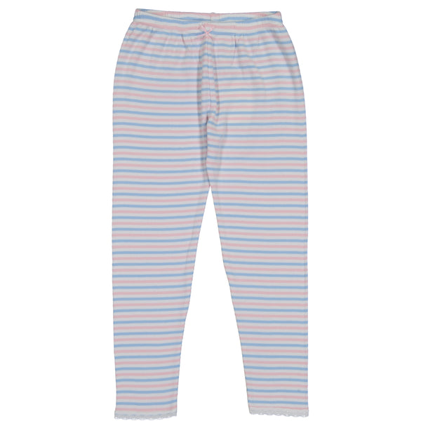 Polkadot GIRLS PJ PANT Pink /Lt Blue /Cream Sailor Stripe w Lace