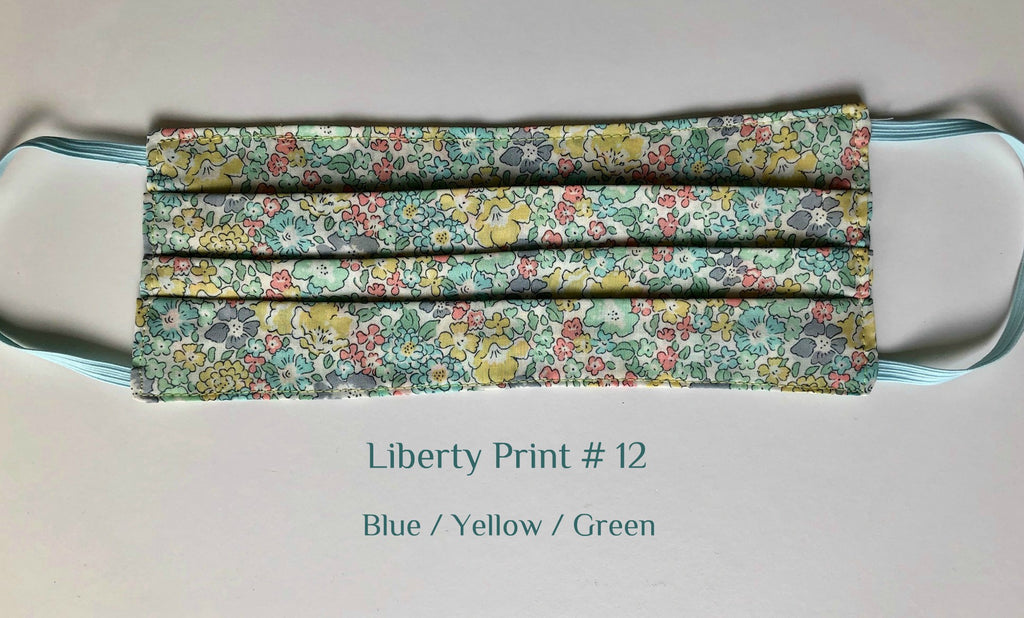 MASK Liberty Print # 12  Blue /Yellow /Green