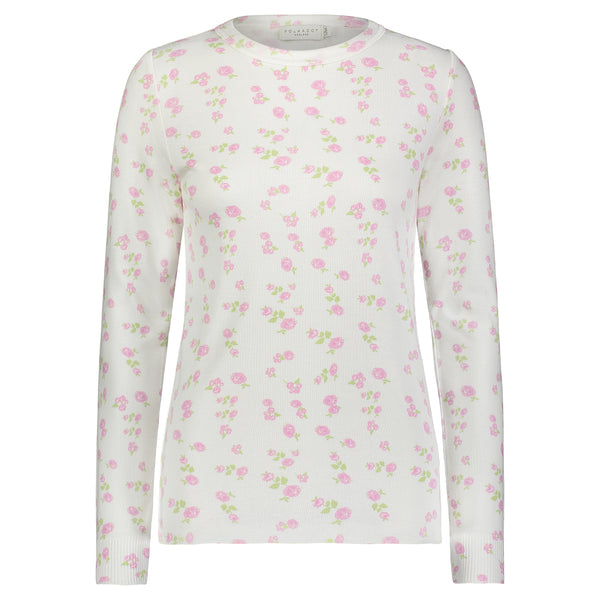 Polkadot ROSE PRINT SOPHIA SLOUCHY CREW LS -MORE COMING by END MAY