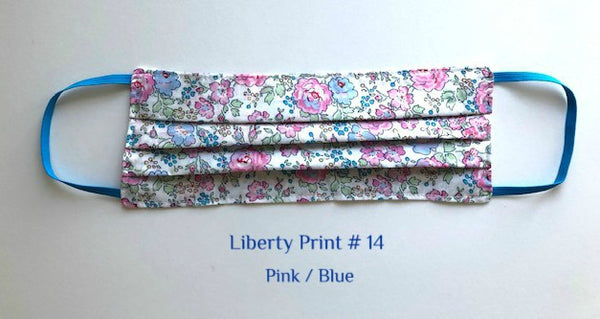 Mask Liberty Print # 14  Pink/Blue