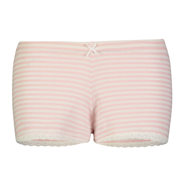 Polkadot SHORT Pink Sailor Stripe w Lace Hems
