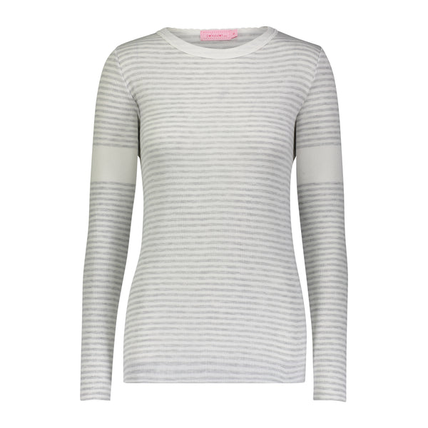 Polkadot STRIPE SOPHIA SLOUCHY CREW LS Grey Sailor Stripe -IN STOCK