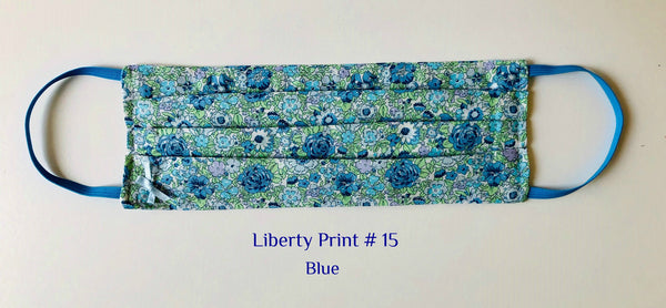Mask Liberty Print # 15  Blue