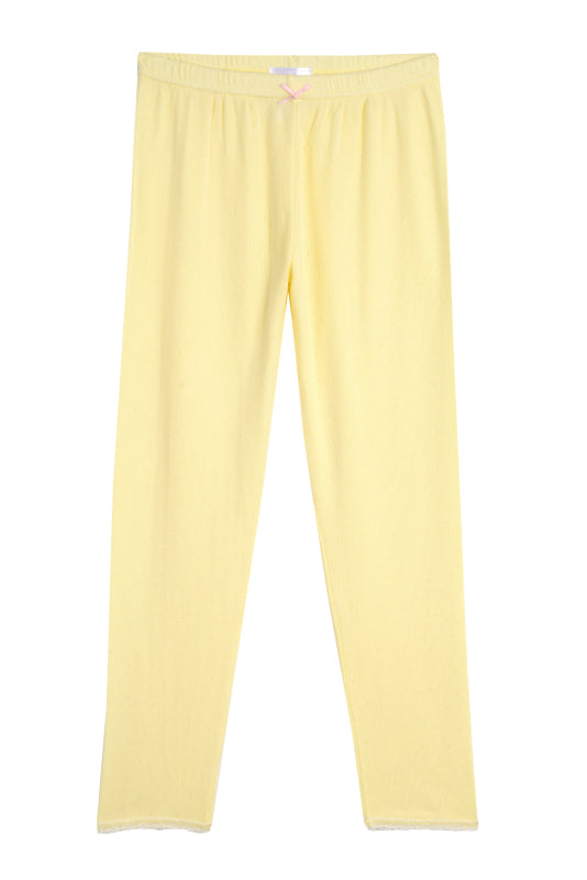 Polkadot GIRLS PANT Lemon Dot Pointelle