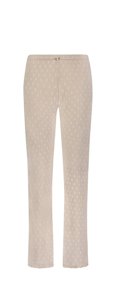 Polkadot PANT Mid Rise BALLET PINK Dot Pointelle w Cluny Lace
