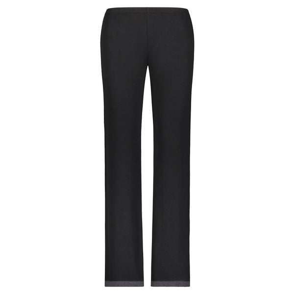 Polkadot PANT Black w Charcoal Border Hem