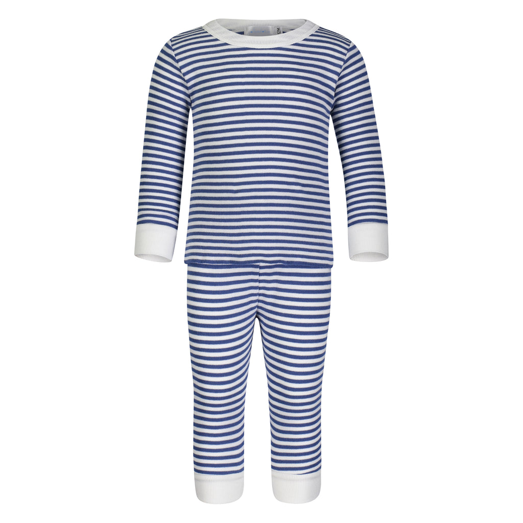 Polkadot BOYS PJ CREW LS Denim /Cream Sailor Stripe