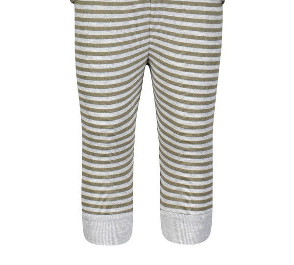 Polkadot BOYS PJ PANT Loden /Heather Grey Sailor Stripe
